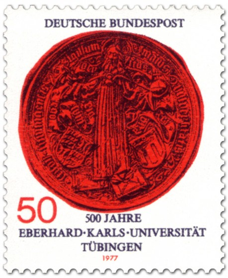 Briefmarke: Siegel der Universität Tübingen