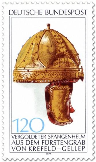 Briefmarke: Vergoldeter Spangen-Helm (Krefeld-Gellep)
