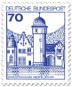 Briefmarke: Wasserschloss Mespelbrunn