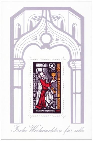 Weihnachtsbriefmarke Glasfenster Heiliger König (Aufl. 11.187.000)