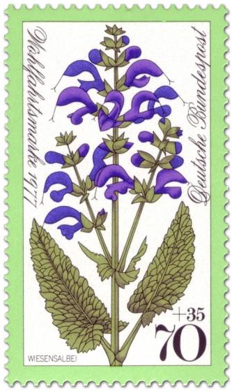 Briefmarke: Wiesensalbei