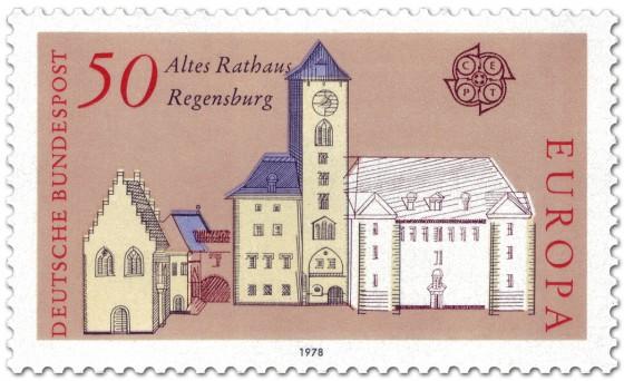 Briefmarke: Altes Rathaus Regensburg
