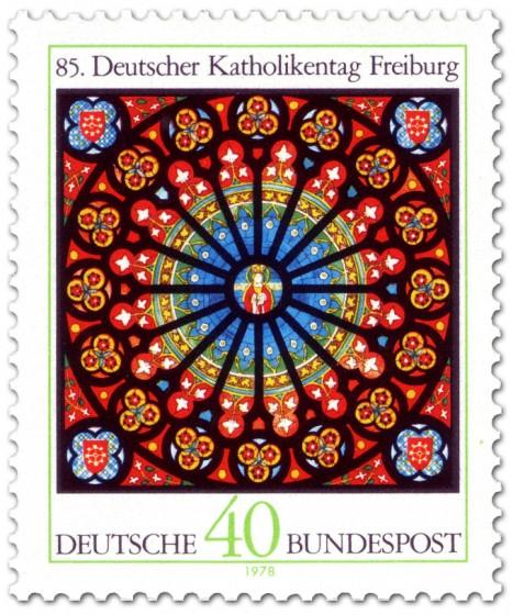 Briefmarke: Briefmarke: Glasfenster im Freiburger Münster