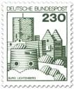 Briefmarke: Burg Lichtenberg in der Pfalz