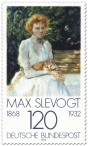 Dame mit Katze von Max Slevogt