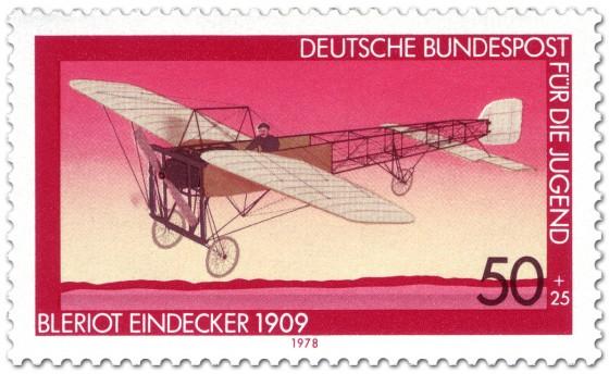 Briefmarke: Eindecker von Louis Blériot