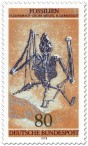 Briefmarke: Fossil: Fledermaus