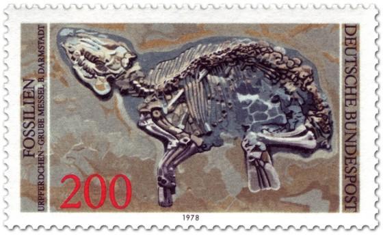 Briefmarke: Fossil Urpferd