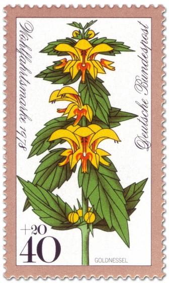 Briefmarke: Goldnessel (Waldblume)