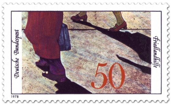 Briefmarke: Heimkehrer - 20 Jahre Friedlandhilfe