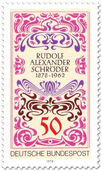 Briefmarke: Jugendstil Rudolf Alexander Schröder