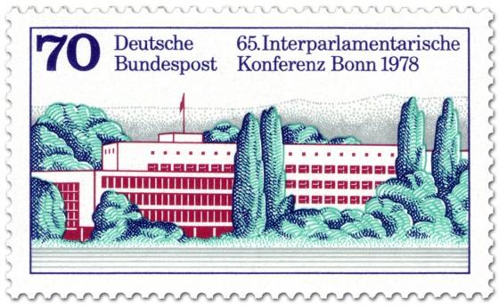 Briefmarke: Interparlamentarische Konferenz, Bundeshaus Bonn