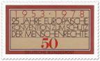 Briefmarke: Europäische Konvention zum Schutz der Menschenrechte