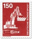 Briefmarke: Löffelbagger, Schaufelbagger