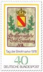 Briefmarke: Posthausschild Baden