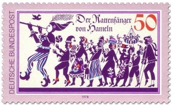 Briefmarke: Der Rattenfänger von Hameln