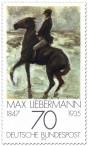Briefmarke: Reiter am Strand von Max Liebermann
