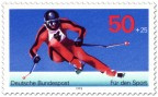 Briefmarke: Skifahrer Abfahrtslauf (Sporthilfe)