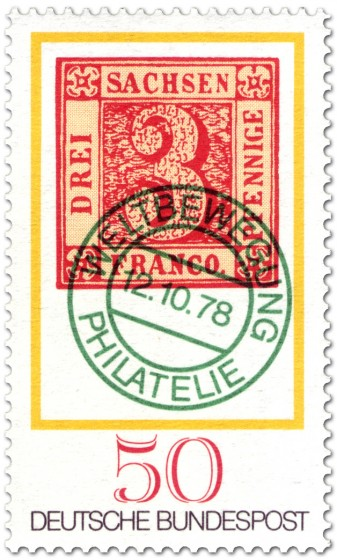 Briefmarke: Tag der Briefmarke: Sachsendreier