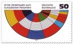 Briefmarke: Europäisches Parlament, Sitzverteilung