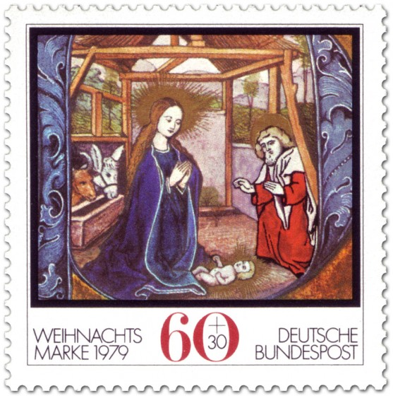 Briefmarke: Geburt Christi im Stall zu Bethlehem (Weihnachtsmarke 1979)