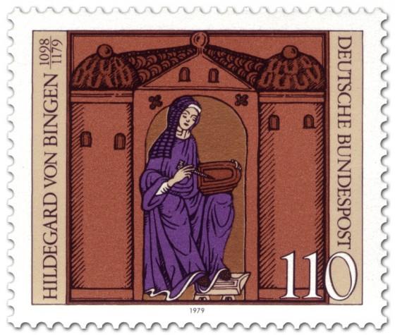 Briefmarke: Hildegard von Bingen (Nonne, Mystikerin)