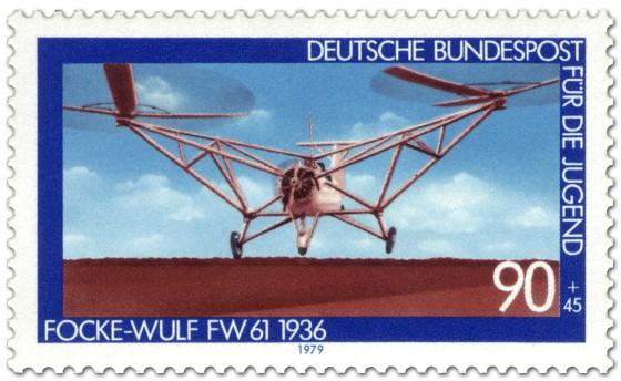 Briefmarke: Historischer Hubschrauber Focke-Wulf Fw 61