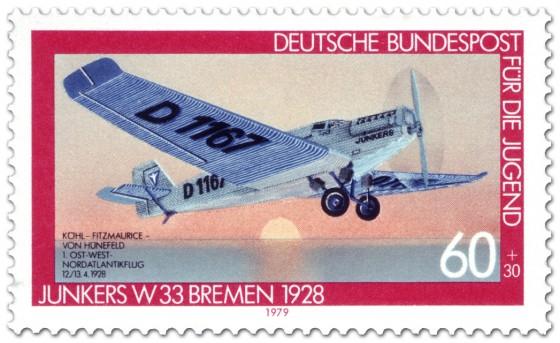 Briefmarke: Junkers Flugzeug