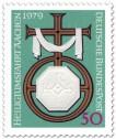 Briefmarke: Kreuz mit dem Symbol Karls des Großen