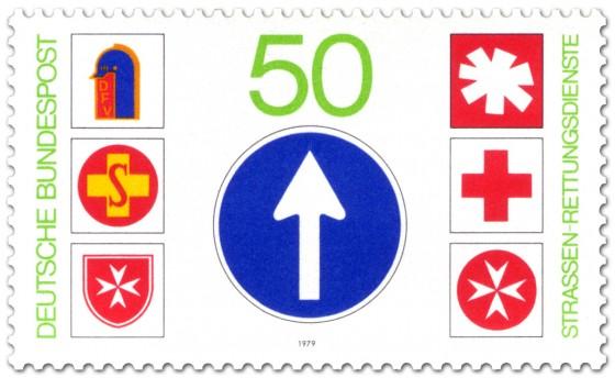 Briefmarke: Straßen-Rettungsdienste
