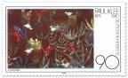 Briefmarke: Vogelgarten - Aquarell von Paul Klee