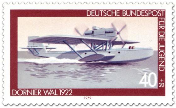 Briefmarke: Wasserflugzeug Dornier Wal 1922