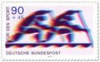 Briefmarke: Zweier Canadier (Rudern, Sporthilfe)