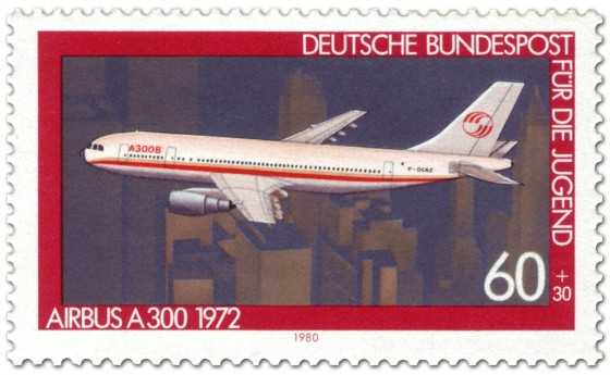 Briefmarke: Airbus A300