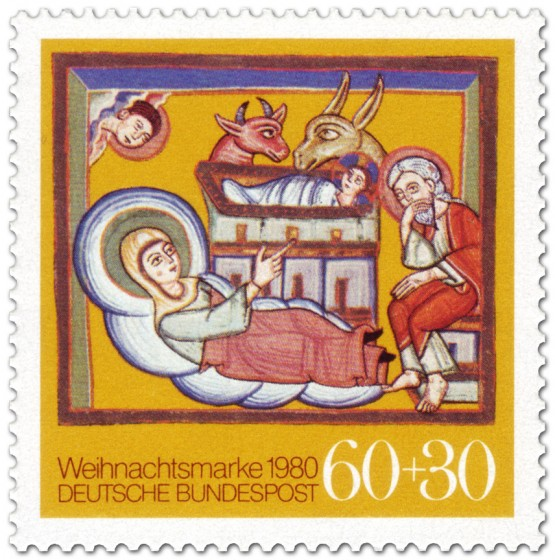 Briefmarke: Bethlehem Stall, Geburt Christi (Weihnachtsmarke 1980)