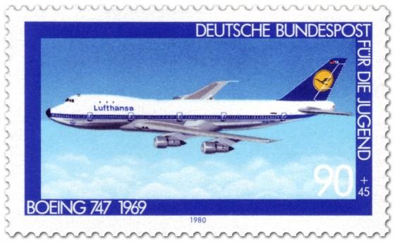 Briefmarke: Böing 747