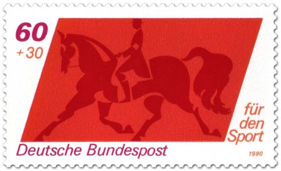 Briefmarke: Dresurreiten Sporthilfe