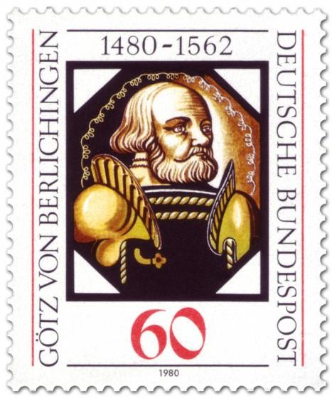 Briefmarke: Götz von Berlichingen (Glasbild)