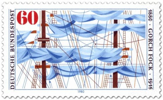 Briefmarke: Gorch Fock (Segelschiff)