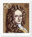 Briefmarke: Gottfried Wilhelm Leibniz (Philosoph)