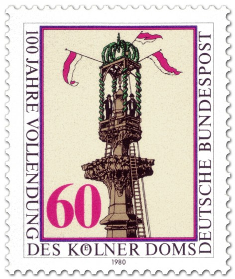 Briefmarke: Kölner Dom Turmspitze