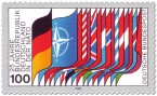 Briefmarke: Nato-Flaggen (25 jahre BRD in der Nato)