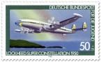 Briefmarke: Propellerflugzeug Lockheed Super Constellation