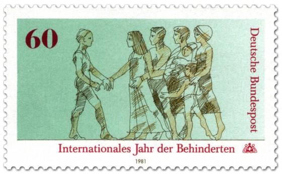 Briefmarke: Behinderter, Menschen (Internationales Jahr der Behinderten)