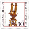 Briefmarke: Binokularmikroskop um 1860