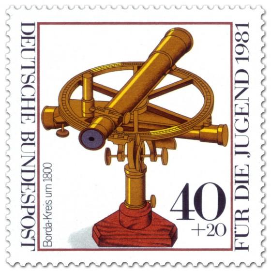 Briefmarke: Borda-Kreis um 1800 (historisches Fernrohr)