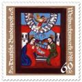 Geburt Christi mit Engeln, Weihnachtsmarke (Aufl. 11.568.000)