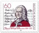 Briefmarke: Georg Philipp Telemann (Komponist)