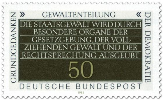 Briefmarke: Gewaltenteilung (Grundgedanken der Demokratie)