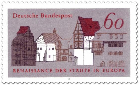 """Briefmarke: Historische Altstadt (""""Renaissance der Städte"""")"""